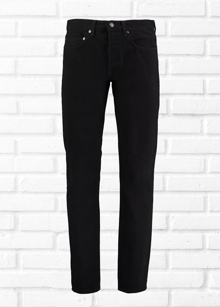 5 POCKET TWILL COTTON JEANS - BLACK