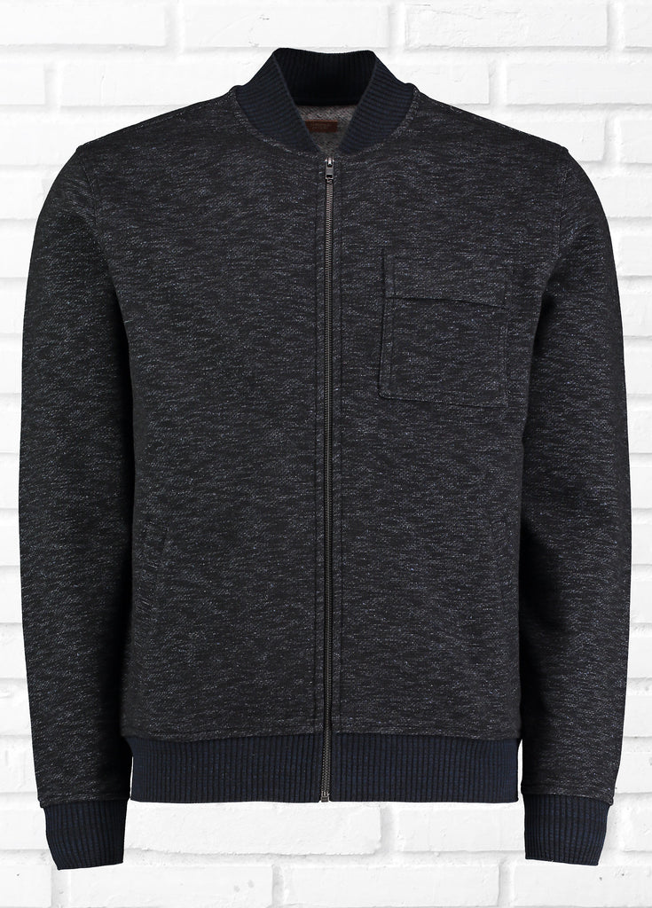 WORK ZIP UP JACKET - NAVY