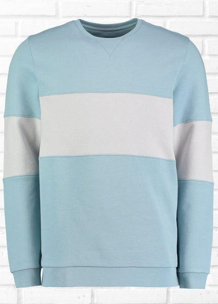 GROVER CHEST PANEL SWEATSHIRT - BLUE