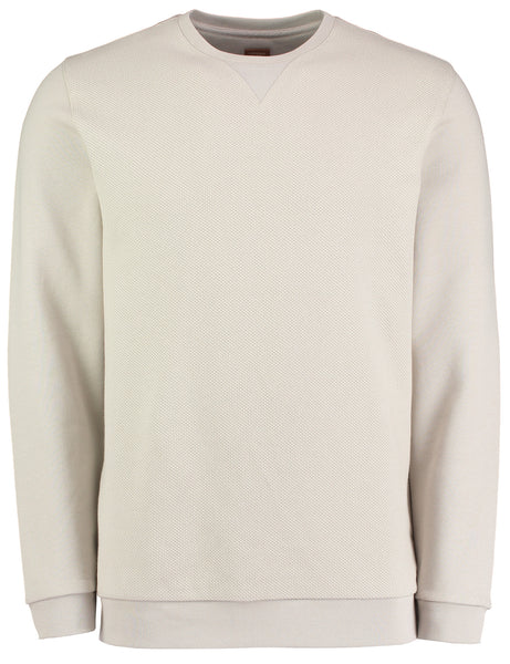 BAILEY TEXTURED FRONT PANEL SWEATSHIRT - STONE
