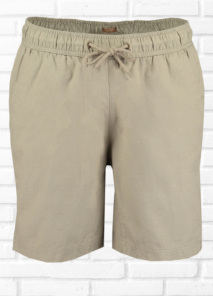 CHARGE LINEN BLEND SHORT - PEBBLE