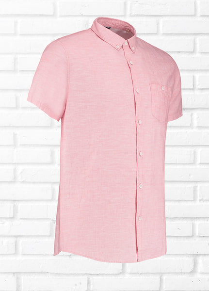 DRAW SEMI PLAIN SHIRT - PINK