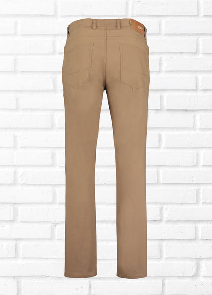 GEORGE 5 POCKET TROUSER - TOBACCO