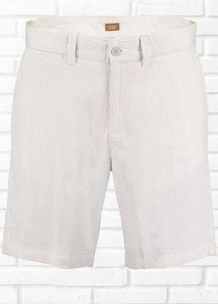 LOUIS SEERSUCKER STRIPE SHORT - WHITE/ECRU