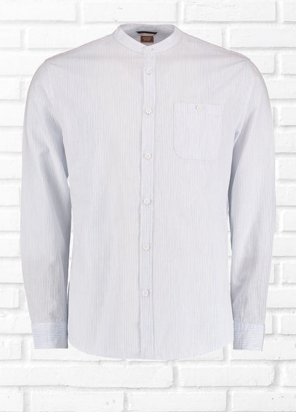 ULTRA TEXTURED STRIPE SHIRT - WHITE/BLUE