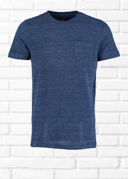 FLYER SPACE DYE TEE SHIRT - NAVY