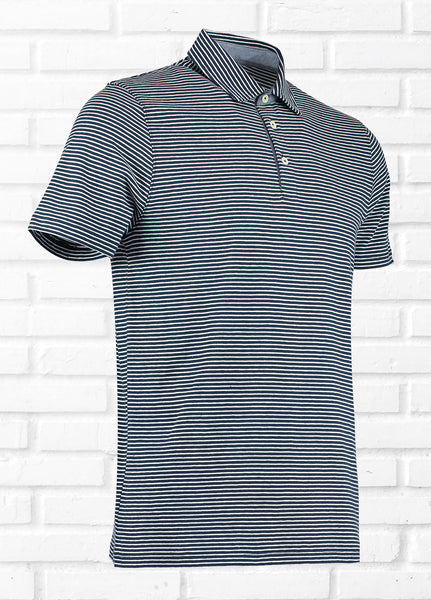 BOJI NARROW STRIPE POLO