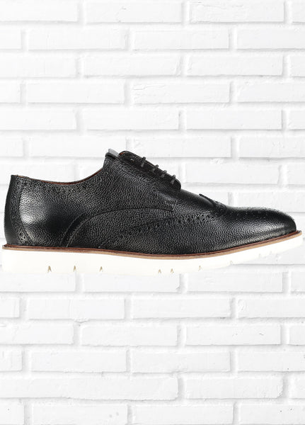 BROGUE SHOES - BLACK
