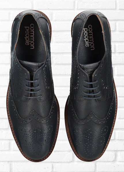 BROGUE SHOES - NAVY