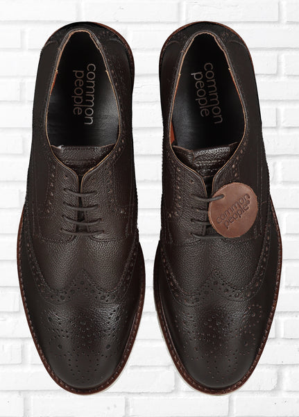 BROGUE SHOES - BROWN