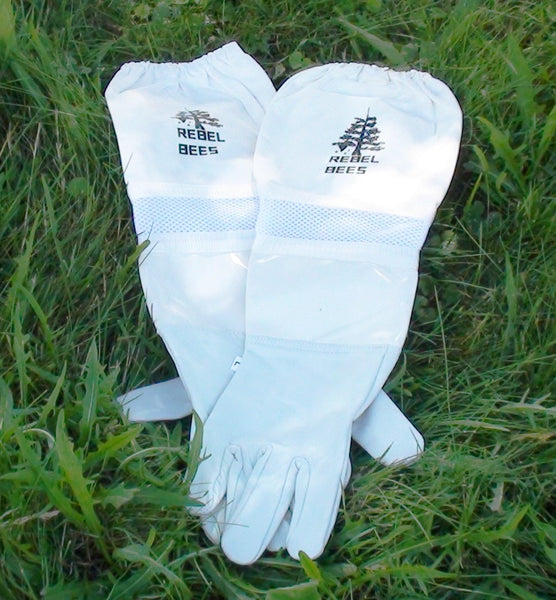 Ventilated Bee Gloves - Copyrights RebelBees 2016