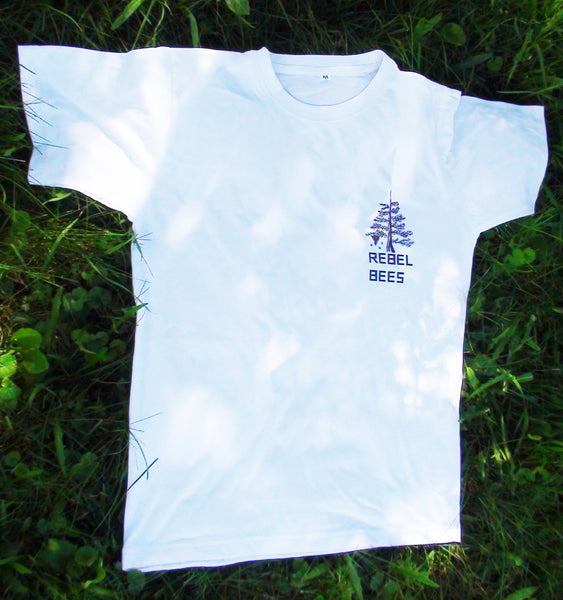 RebelBees White T-shirt - Copyrights RebelBees 2016