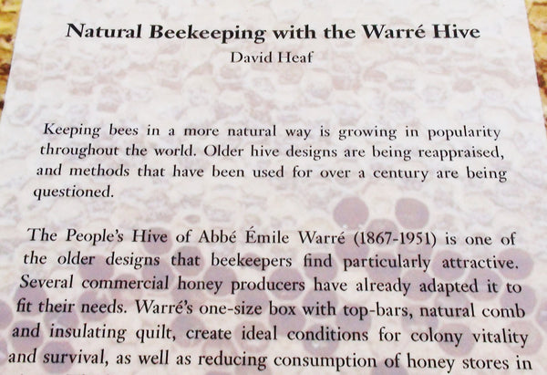 Natural Beekeeping with the Warré Hive - Copyrights RebelBees 2016