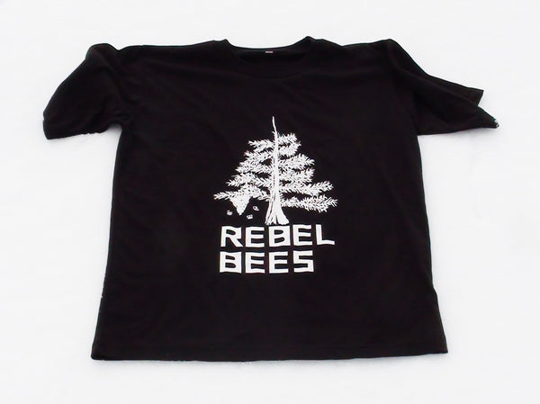 RebelBees Black T-shirt - Copyrights RebelBees 2016