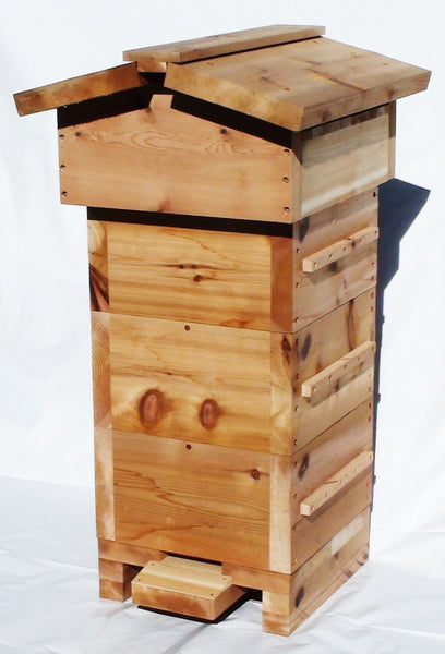 Warré Complete Hive with Windows - Copyrights RebelBees 2016