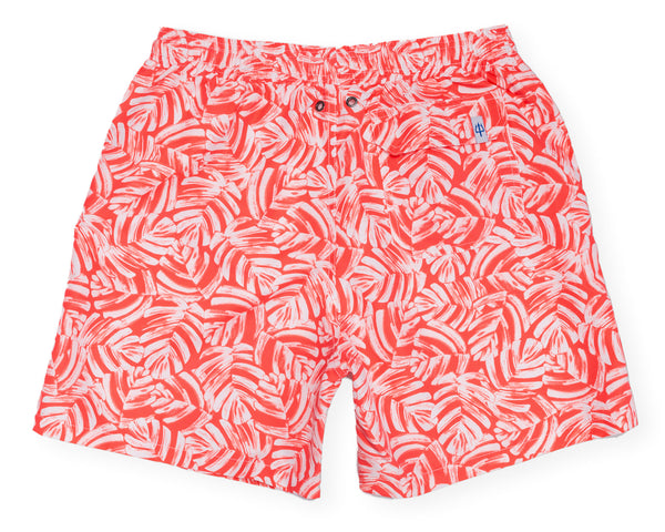 Classic Swim Trunk Elephant Ears - Fire Coral