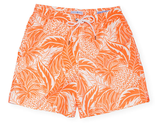 Classic Swim Trunk Pineapple - Orange