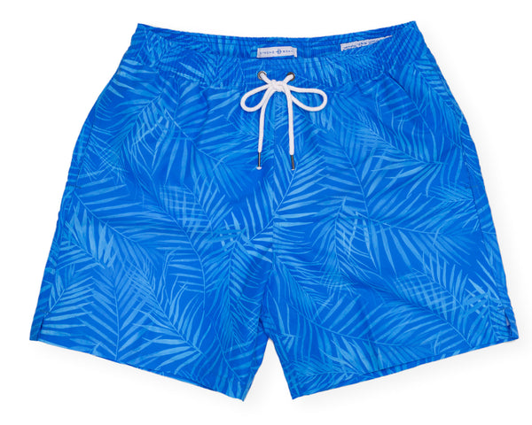 Classic Swim Trunk X-Ray Palms - Blue