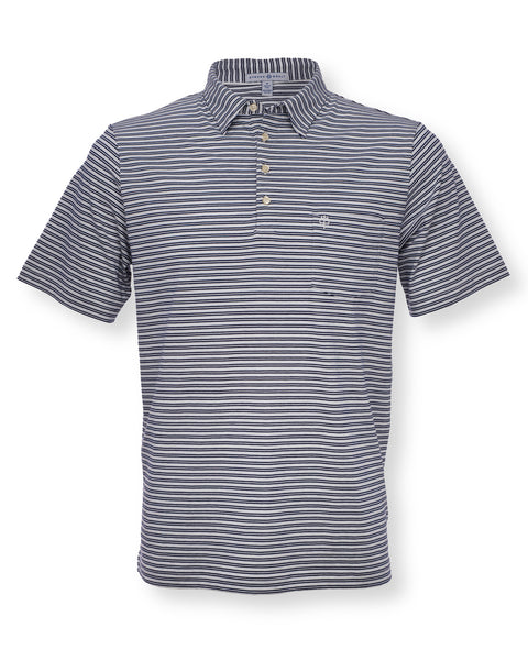 The Alexander Polo - Double Stripe Navy