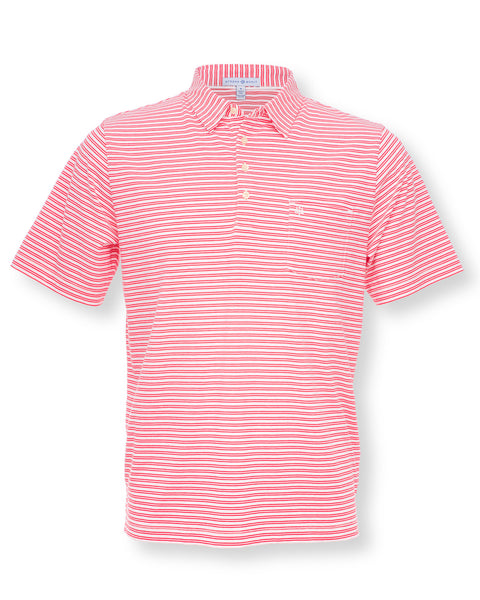 The Alexander Polo - Double Stripe Red