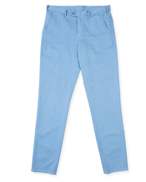 Pima Cotton Pants - Sky