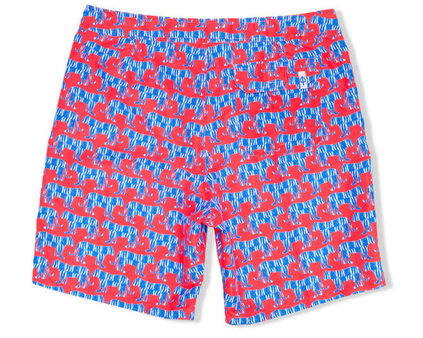 Classic Boardshort Jungle Cat - Red
