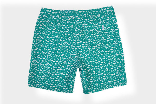 Classic Boardshort Shark Teeth - Turquoise