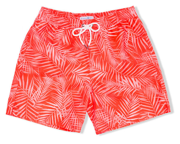 Classic Swim Trunk X-Ray Palms - Red