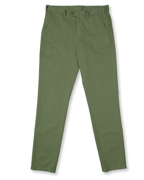 Pima Cotton Pants - Camp Green