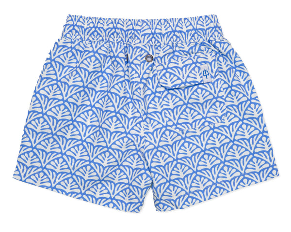 NEW - Boys Classic Swim Trunk Batik Geo - Delphinium