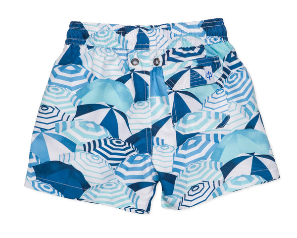NEW - Boys Classic Swim Trunk Capri - Amanda Blue