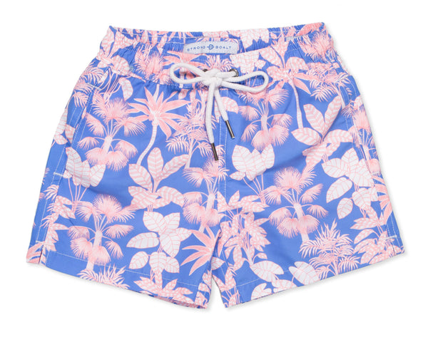 NEW - Boys Classic Swim Trunk Paradise - Delphinium
