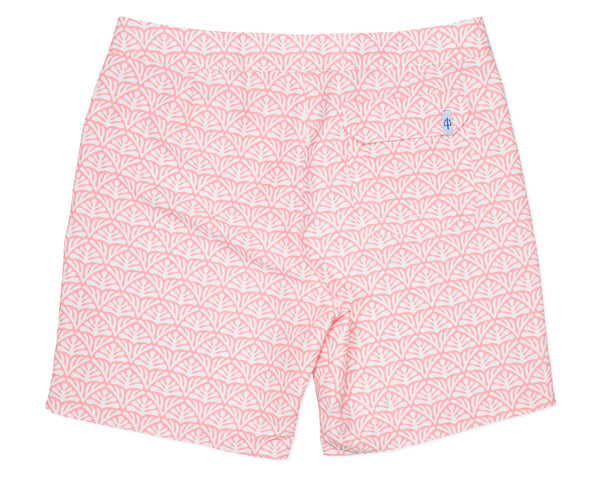 NEW - Classic Boardshort Batik Geo - Coral Fan
