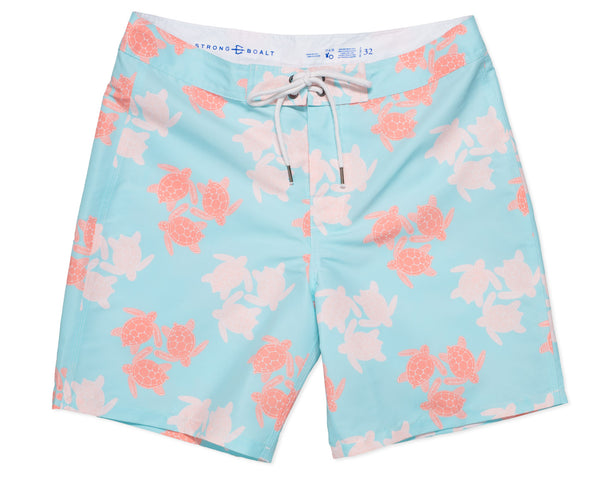NEW - Classic Boardshort Turtles - Sky Blue