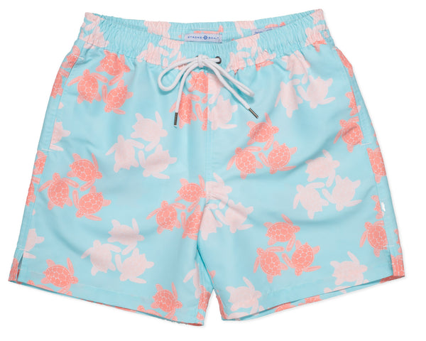NEW - Classic Swim Trunk Turtles - Sky Blue