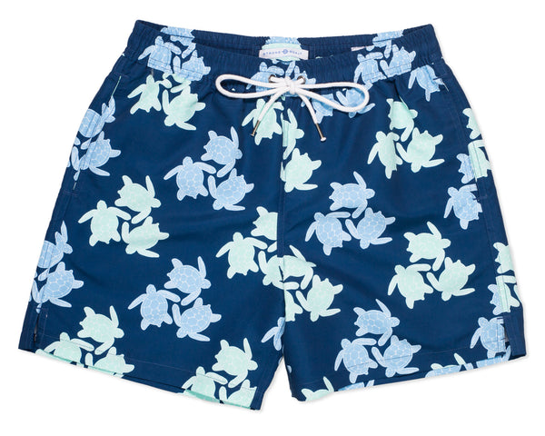 NEW - Classic Swim Trunk Turtles - Amanda Blue
