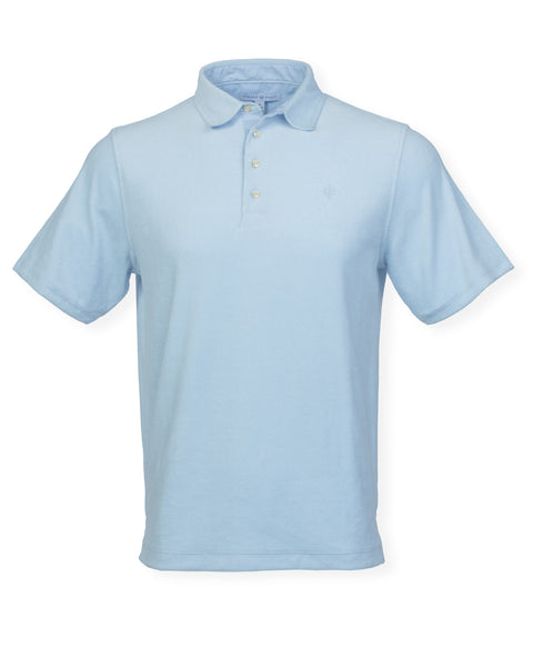 The Ace Terry Cloth Polo - Washed Blue
