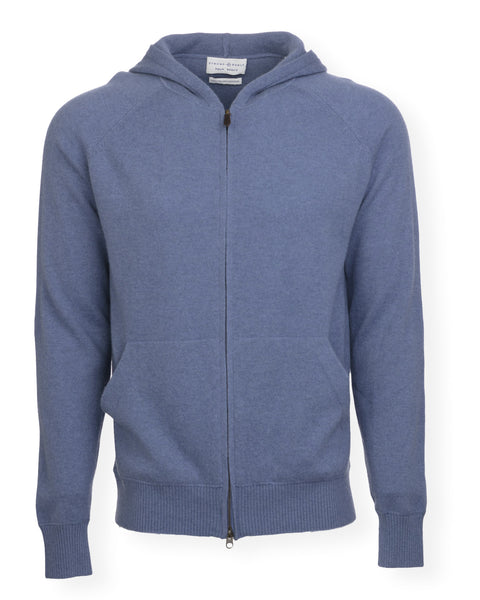The Anthony Cashmere Hoodie - Washed Blue