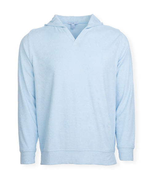 The McQueen Terry Cloth Hoodie - Washed Blue