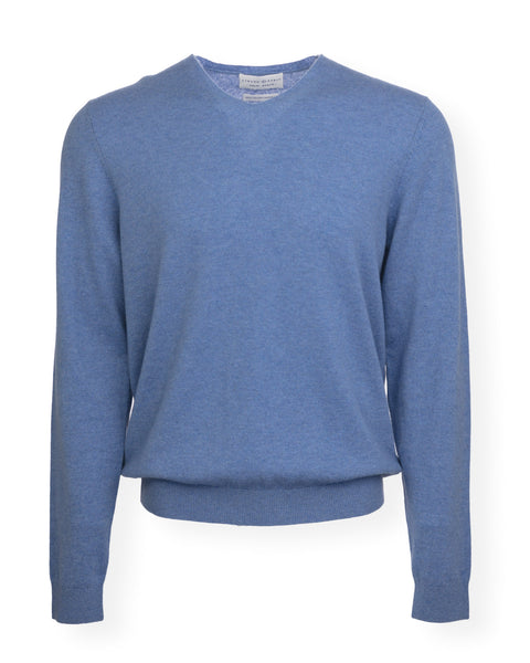 NEW! The Christopher Cashmere V-Neck - Denim