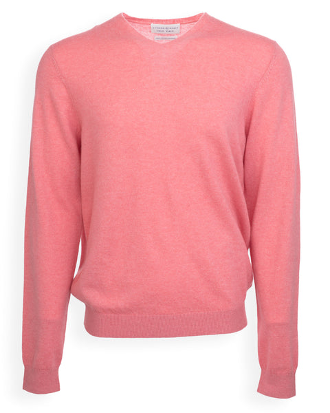 NEW! The Christopher Cashmere V-Neck - Coral