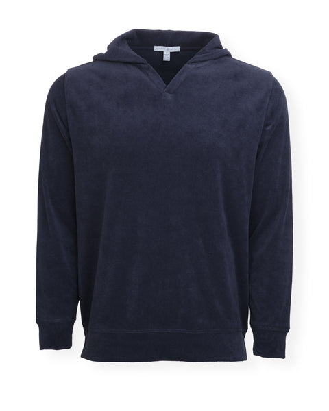 NEW! The McQueen Terry Cloth Hoodie - Darkest Indigo