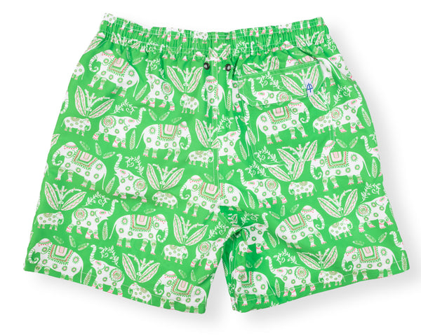 Classic Swim Trunk Elephant - Grass Court