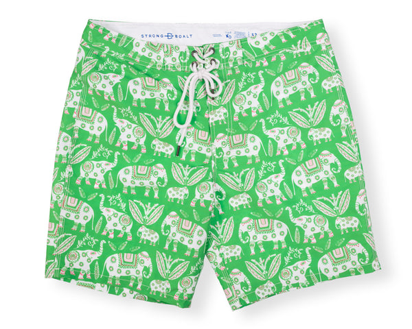 NEW! Classic Boardshort Elephant - Grass Court