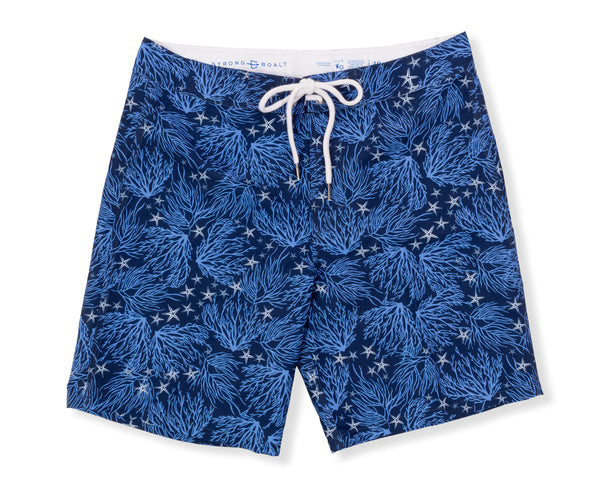 NEW! Classic Boardshort Coral - Navy