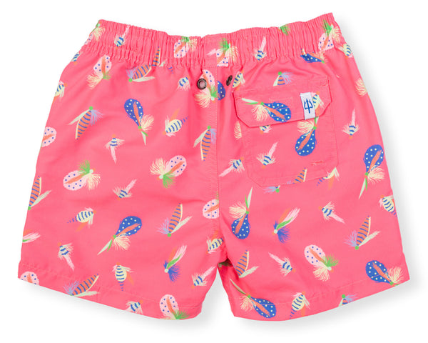 Boys Classic Swim Trunk Flyfish - Happy Pink