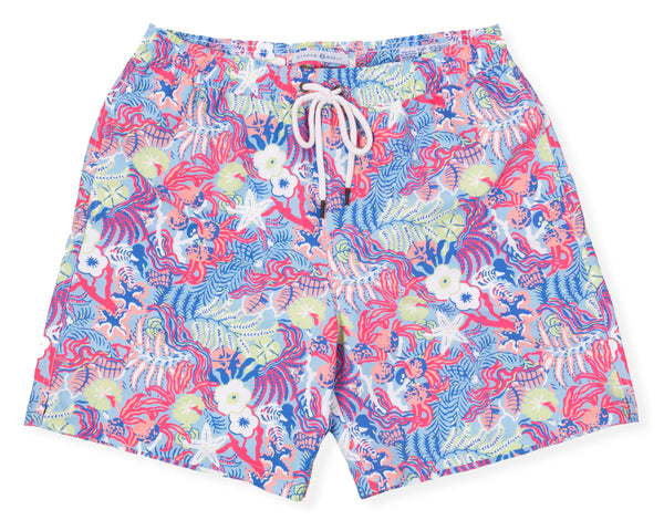 Classic Swim Trunk Undersea - Vivid Blue