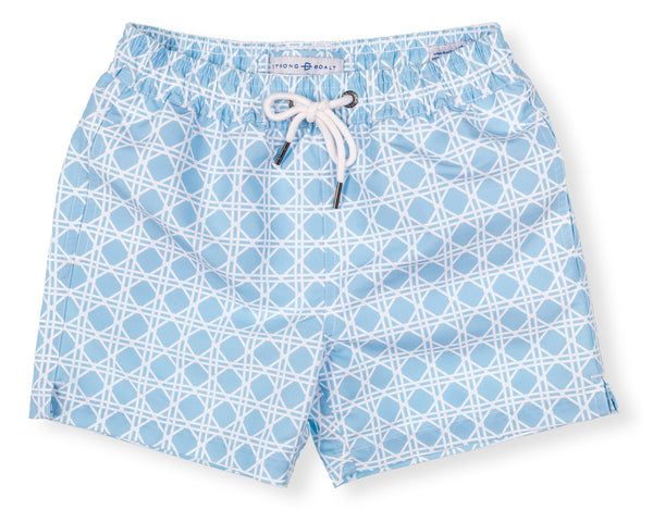 Boys Classic Swim Trunk Bamboo - Washed Blue