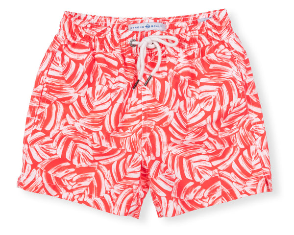Boys Classic Swim Trunk Elephant Ears - Fire Coral
