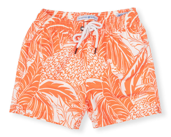 Boys Classic Swim Trunk Pineapple - Orange